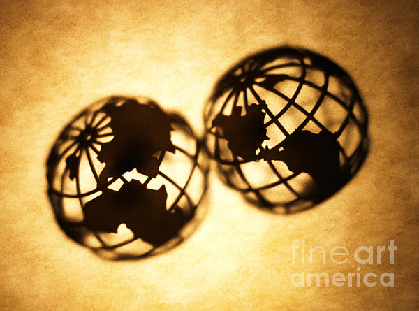 Globe 2 Print by Tony Cordoza