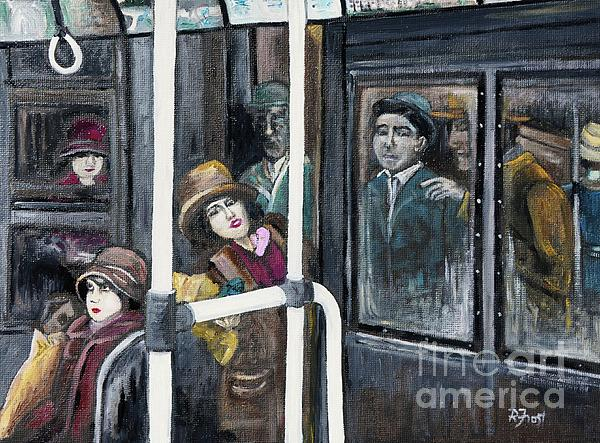 Gloria Swanson In Subway Scene From Manhandled Print by Reb Frost