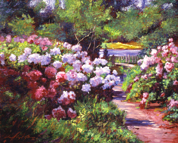 Glorious Blooms Print by David Lloyd Glover
