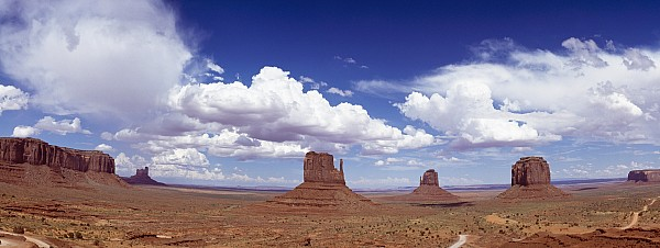 Glove Buttes And Clouds Print by Axiom Photographic