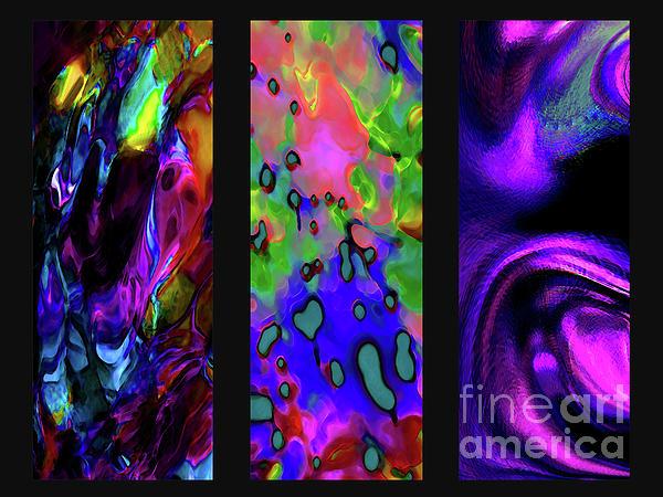 Glow And Flow 'triptych' Print by Terril Heilman