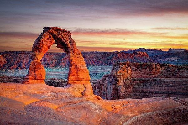 Glowing Arch Print by Mark Brodkin Photography