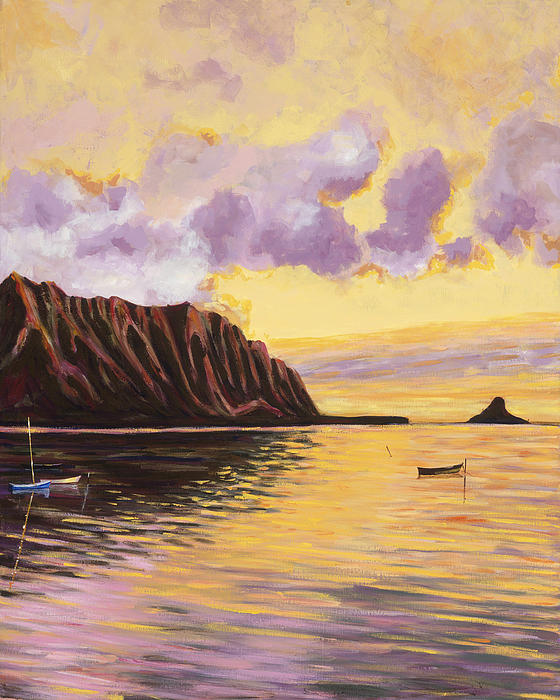 Glowing Kualoa Diptych 2 of 2 Painting