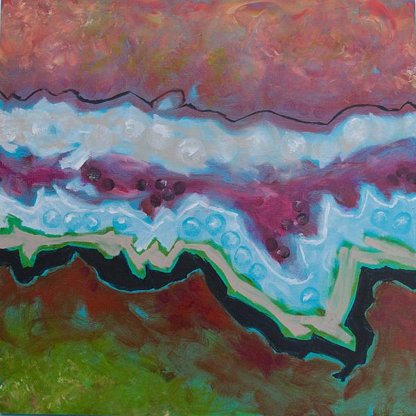 Go With The Flow 2 Print by Linda Krukar