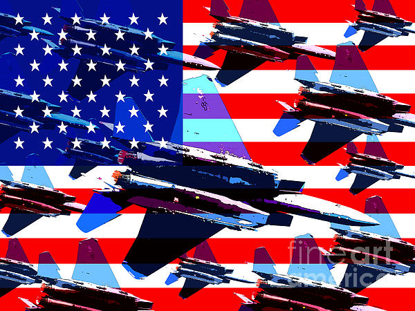 God Bless America Land Of The Free Print by Wingsdomain Art and Photography