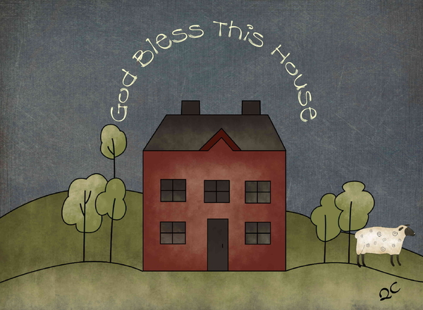 Quaker Crafts - God bless this house