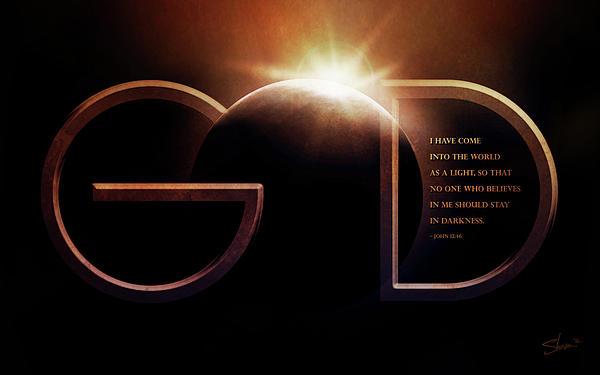 God Is Light Print by Shevon Johnson
