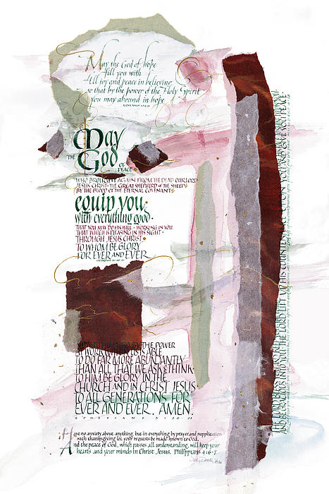 God Of Hope Print by Judy Dodds