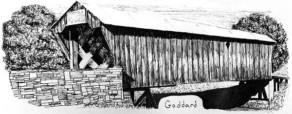 Goddard Covered Bridge Print by Kyle Gray