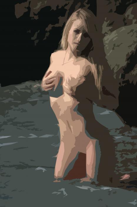 Goddess Of Water Print by Brad Scott