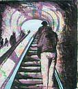 Going Up The D.c. Metro Painting