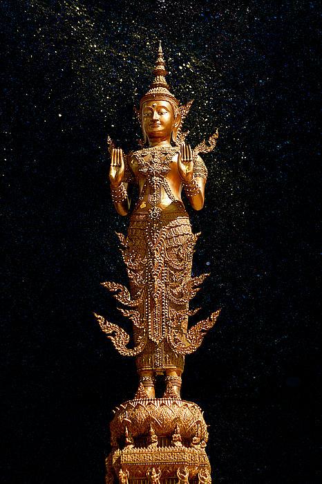 Gold Buddha Print by Bou Lemon