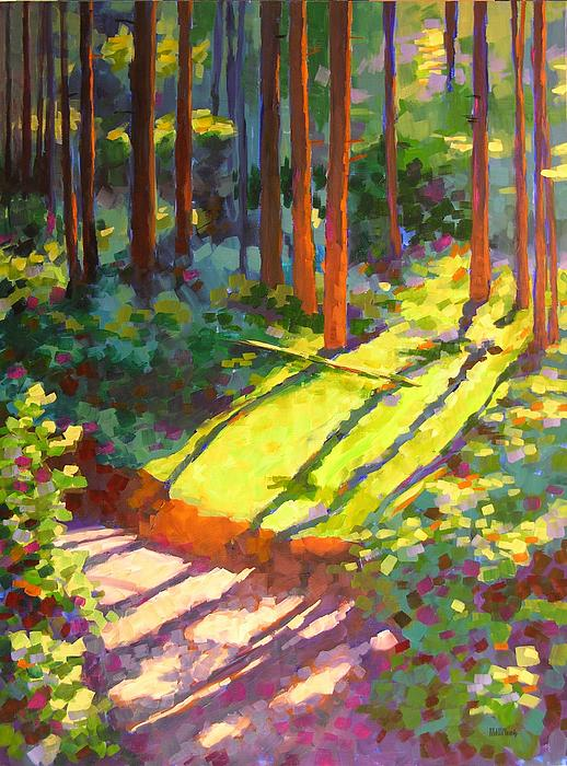 Gold Creek Trail Print by Mary McInnis