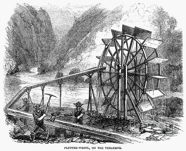 Gold Mining, 1860 Print by Granger