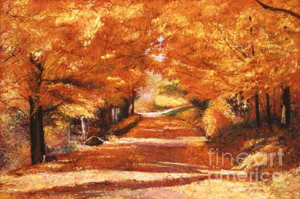 Golden Autumn Print by David Lloyd Glover