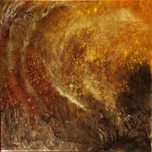 Golden Cavern Painting  - Golden Cavern Fine Art Print