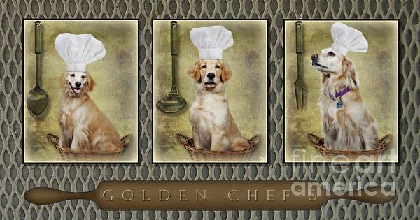Golden Chef's Print by Susan Candelario