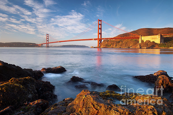 Golden Gate At Dawn Print by Brian Jannsen