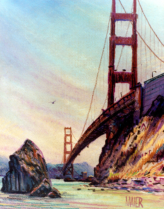 Golden Gate Bridge Looking South Print by Donald Maier