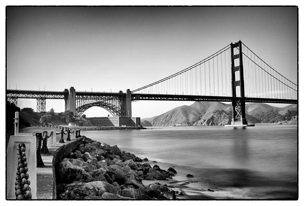 Golden Gate From Fort Point Print by Tanya Harrison