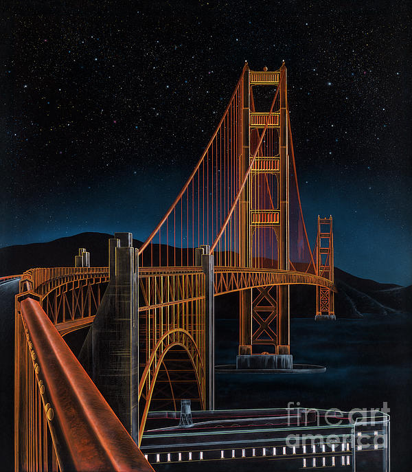 Golden Gate Print by Lynette Cook