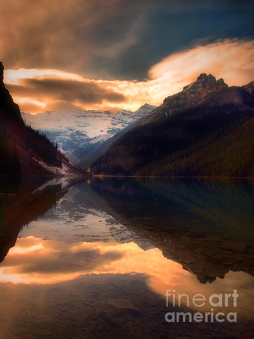 Golden Light On The Rockies Print by Tara Turner