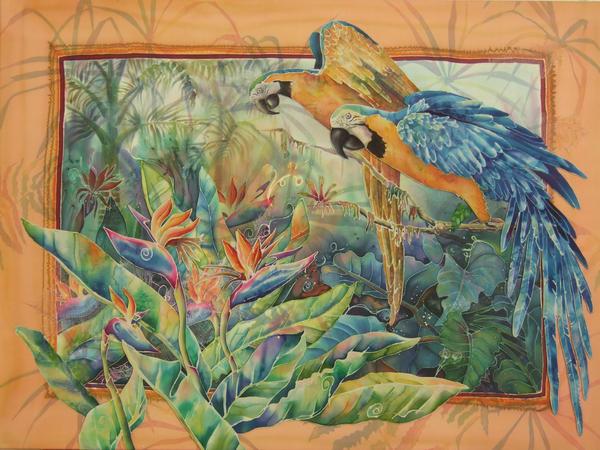 Golden Paradise Print by Deborah Younglao