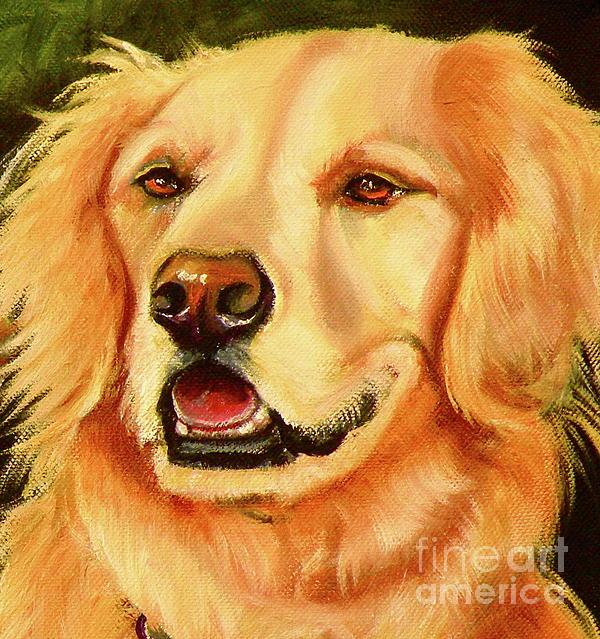 Golden Retriever Sweet As Sugar Print by Susan A Becker