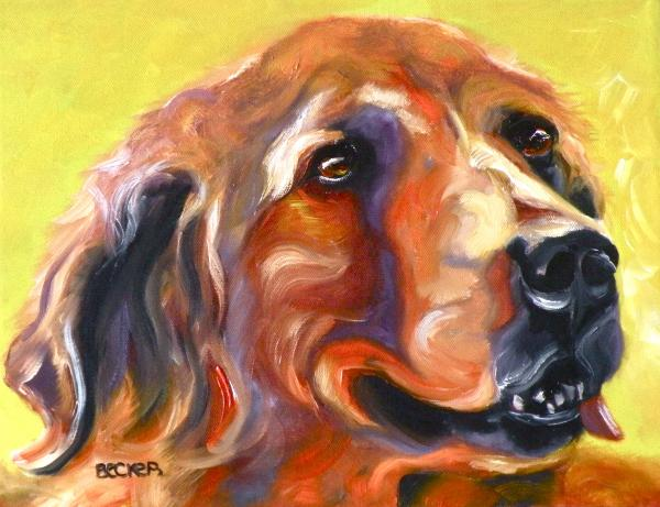 Golden Retriever The Shadow Of Your Smile Print by Susan A Becker