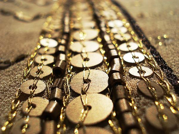 Golden Sequins Highway Print by Sumit Mehndiratta