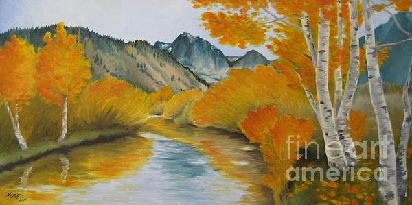 Golden Serenity Print by Jindra Noewi