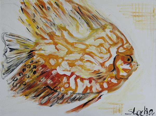 Golden Print by Sladjana Endt
