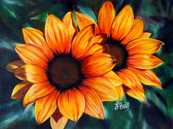 Golden Sun Print by Laura Bell