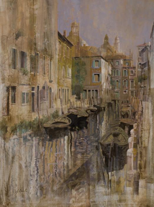 Golden Venice Print by Guido Borelli