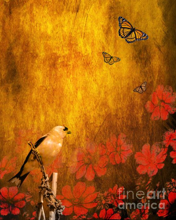 Golden Print by Wingsdomain Art and Photography