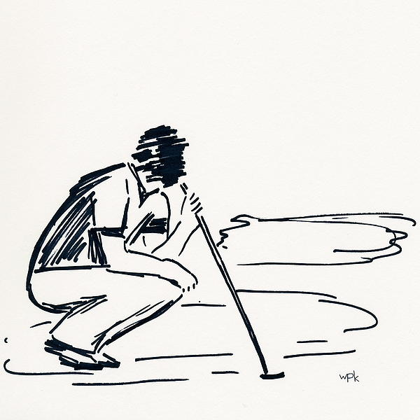 Golf IIi Print by Winifred Kumpf