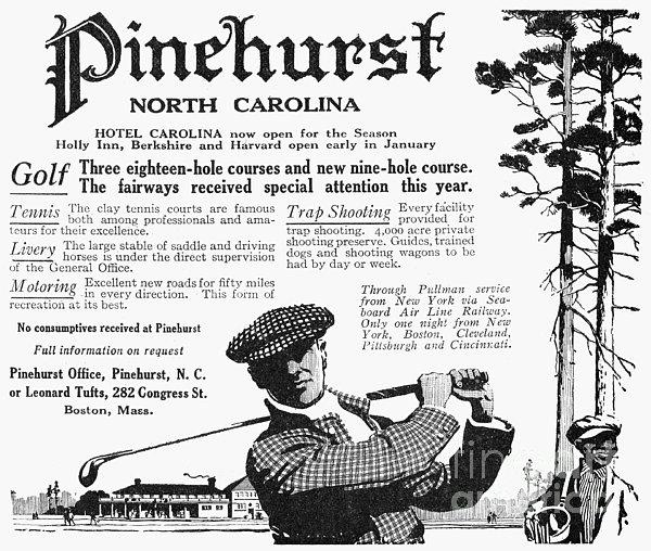 Golf: Pinehurst, 1916 Print by Granger