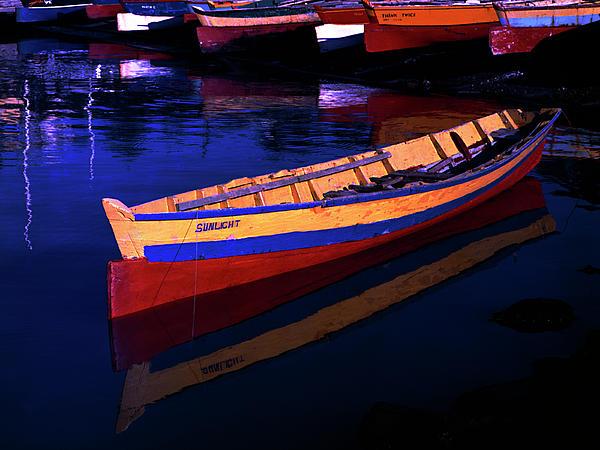 Gomier Canoe-st Lucia Print by Chester Williams