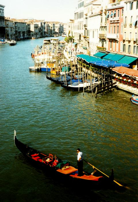 Gondola In Venice Italy Print by Michelle Calkins