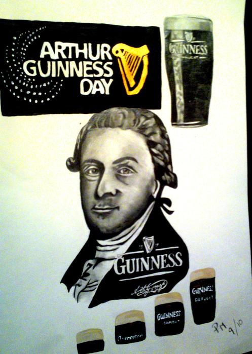 Good Day For A Guinness Drawing  - Good Day For A Guinness Fine Art Print