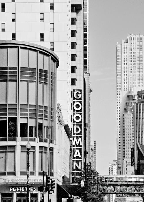 Goodman Theatre Center Chicago Print by Christine Till