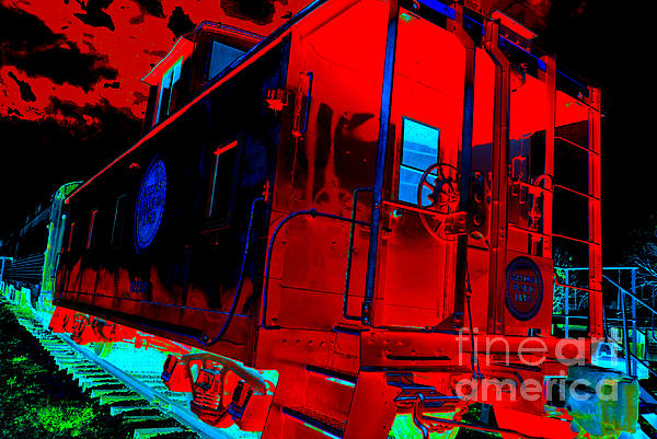 Goodnight Caboose Print by Chuck Taylor