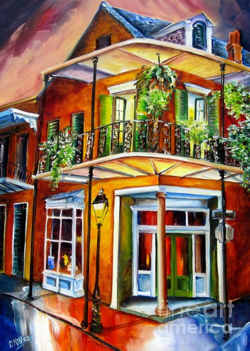 Goodnight New Orleans Painting  - Goodnight New Orleans Fine Art Print