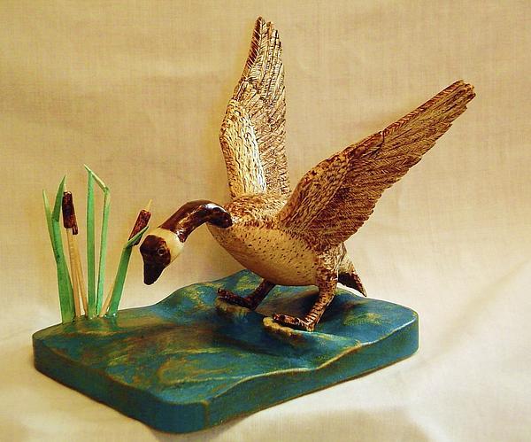 Goose Landing Print by Russell Ellingsworth