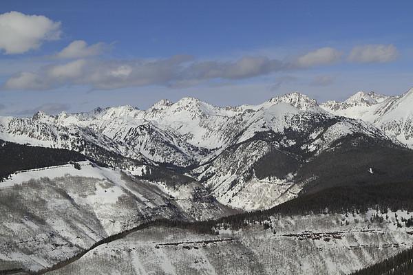 Gore Range, Dillon, Colorado, In Winter Print by John Kieffer
