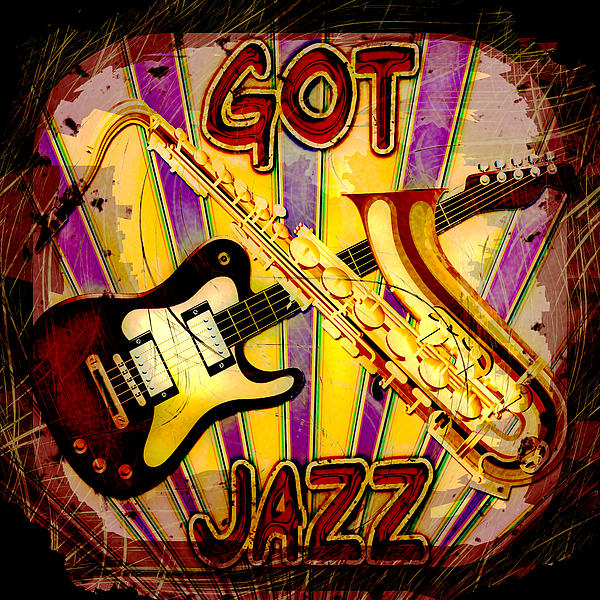 Got Jazz Abstract Print by David G Paul