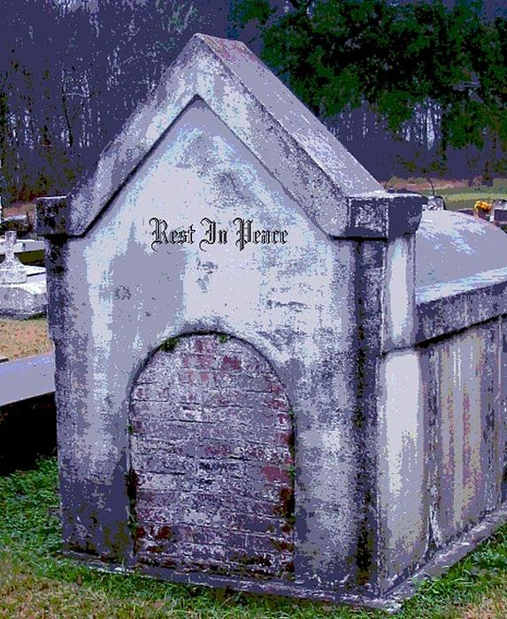Gothic Rest In Peace Print by Marian Hebert