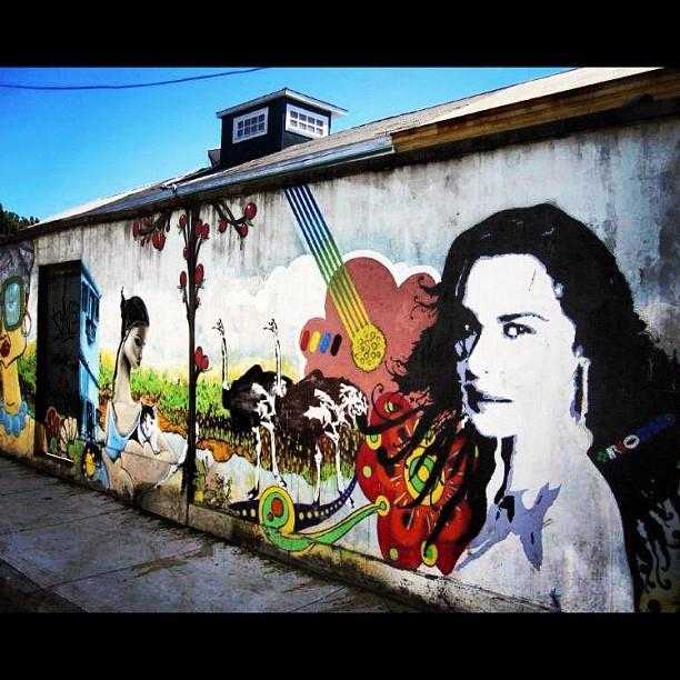 Graffiti wall mural art city girl by alon ben levy for Graffiti mural