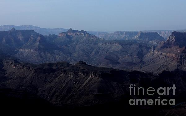Grand Canyon At Dusk Print by Erica Hanel