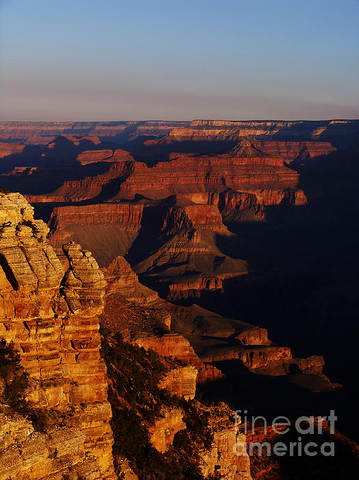 Grand Canyon Sunset Print by Holger Ostwald